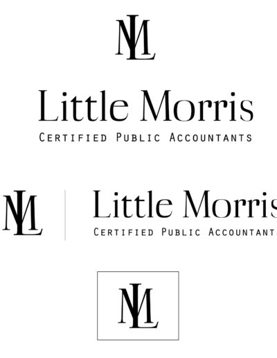 Accounting logo featuring serif text.
