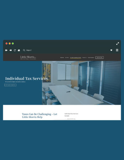 A browser showing a service page of the accounting website.