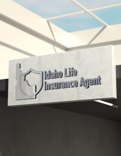 A sign showing the Idaho Life Insurance Agent logo.